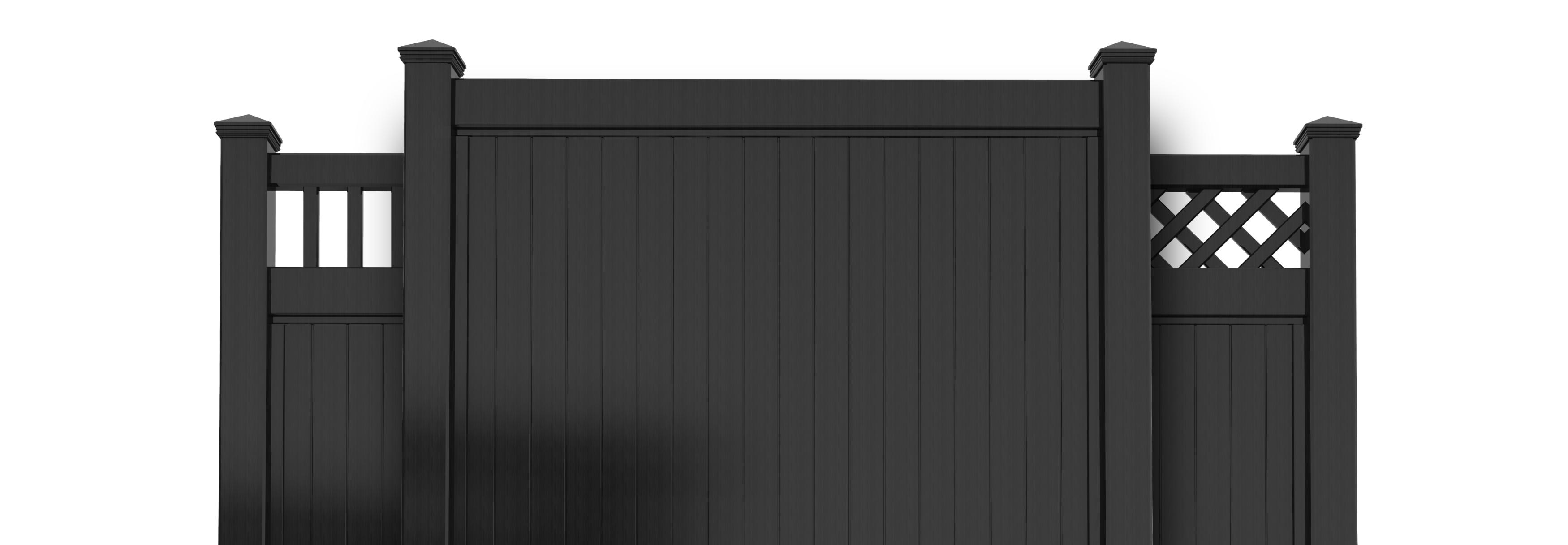 Black Vinyl Privacy Fencing - BLACKlineHHP
