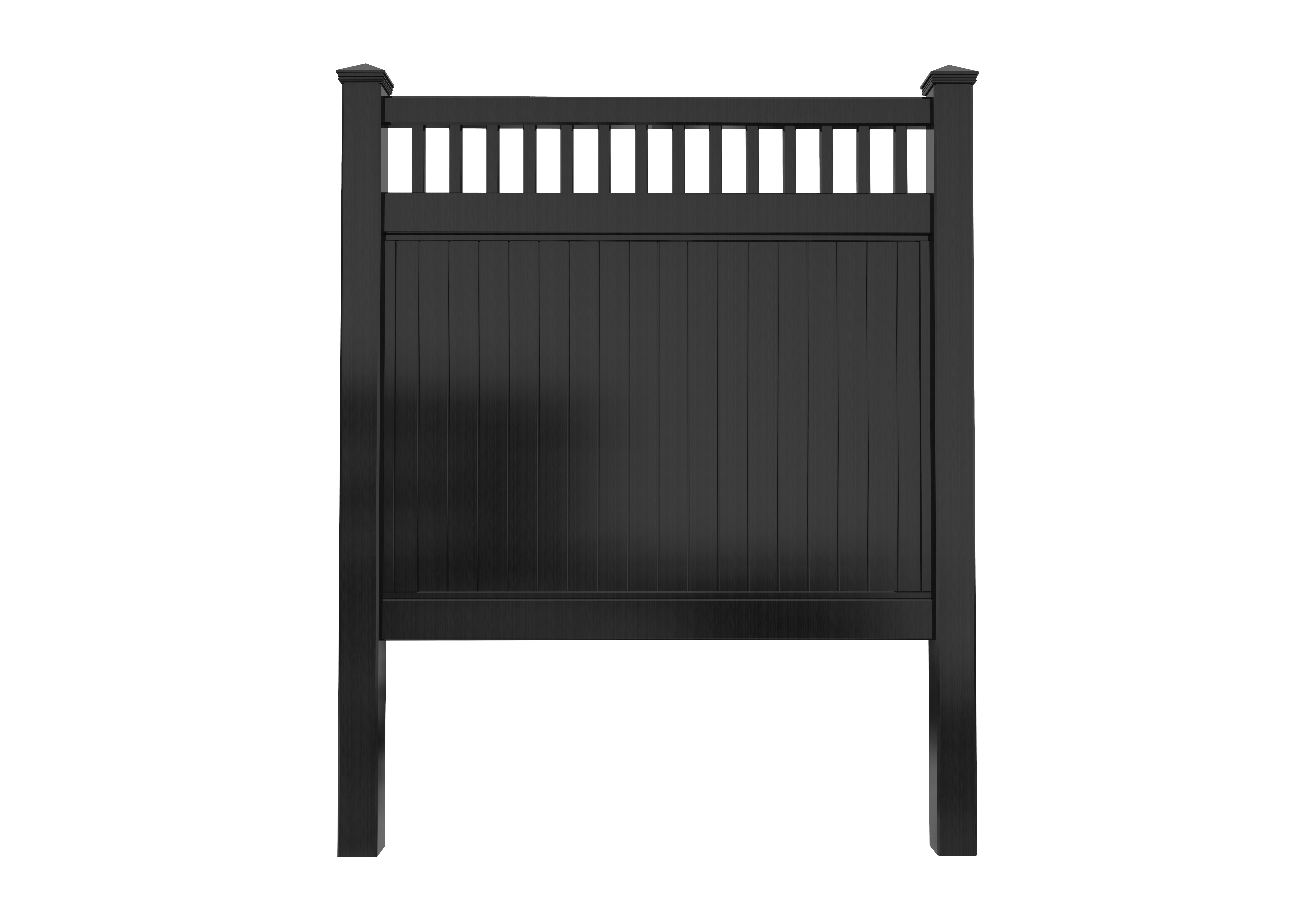 Black Picket-Top Privacy Fence