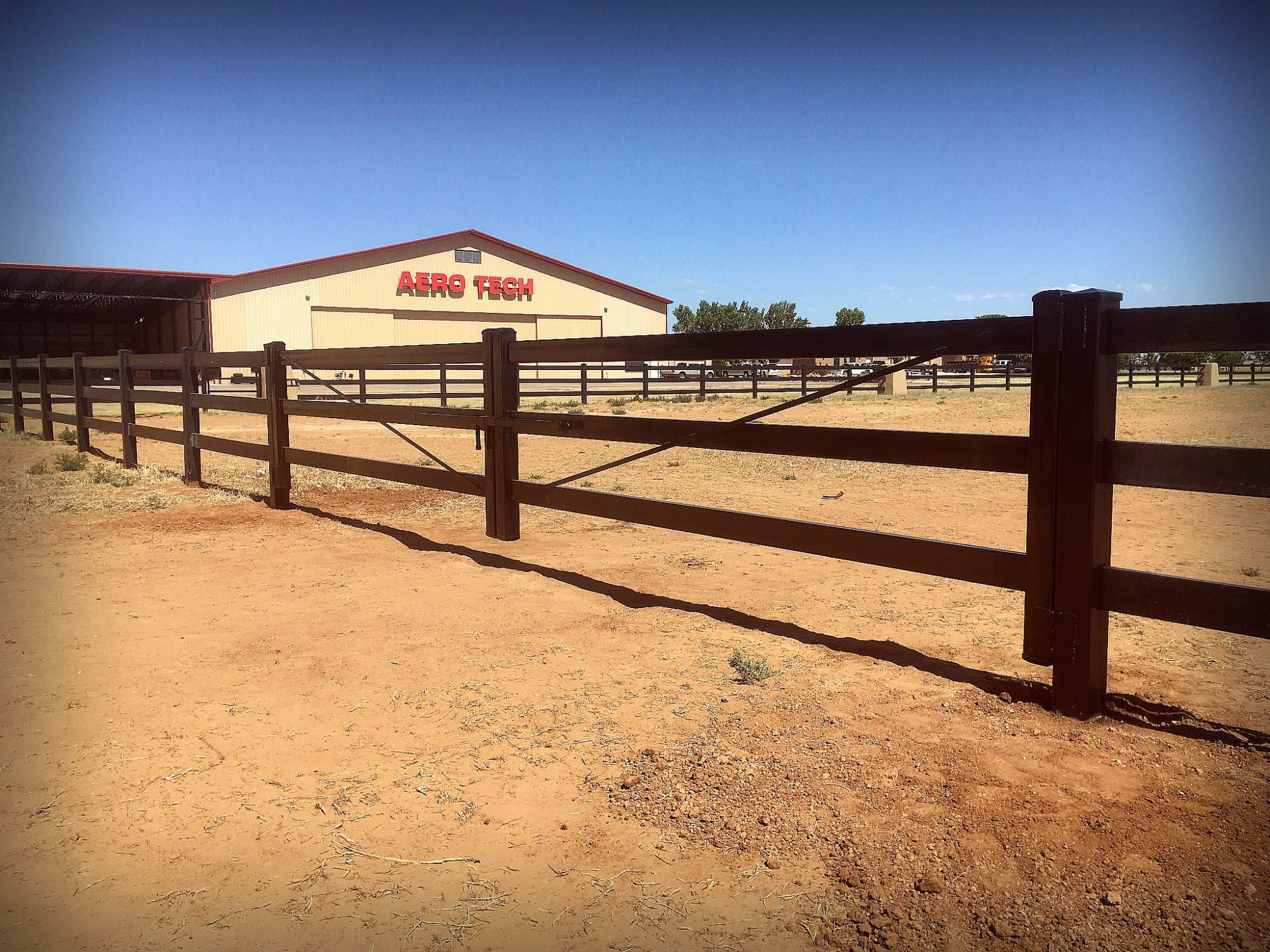 Three Rail Ranch Horse Fence