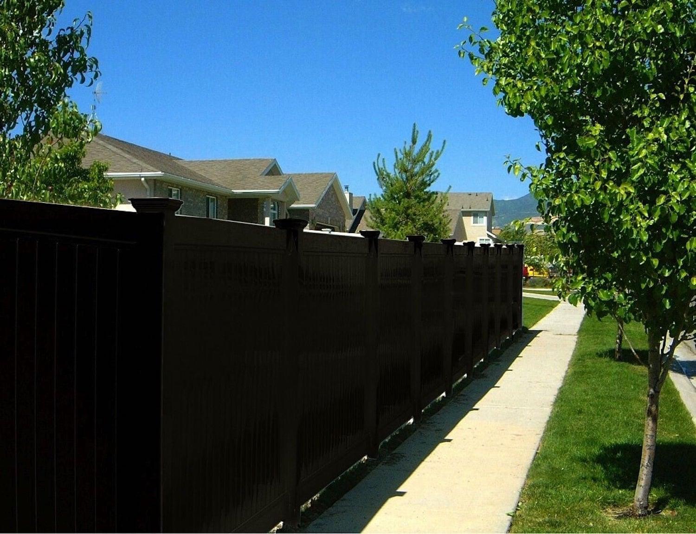 Black Vinyl Fencing Black Vinyl Fences Blackline Hhp