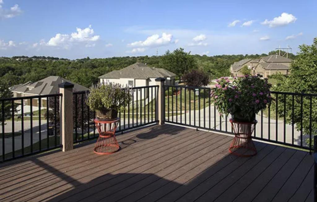 A vinyl railing fence made by Blackline HHP