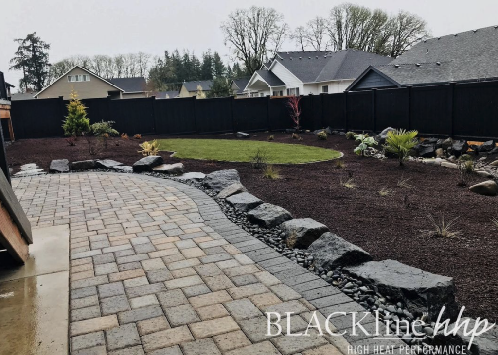 decorative fence from BlacklineHHP privacy fence